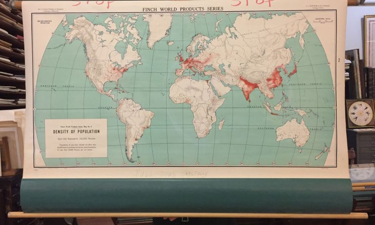 World Density of Population; Finch World Products Series. A. J. NYSTROM.