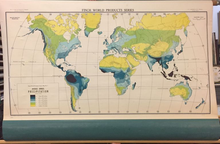 Average Annual Precipitation [World]; Finch World Product Series. A. J. NYSTROM.
