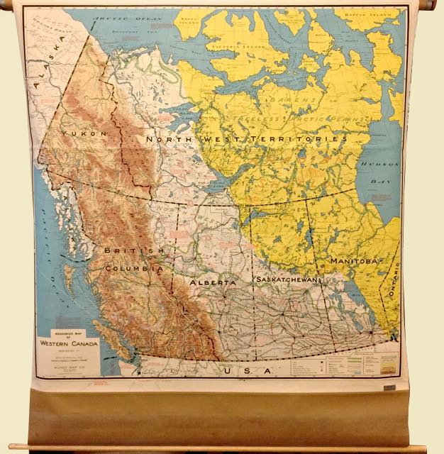 Resources Map Of Western Canada Mundy Map Co