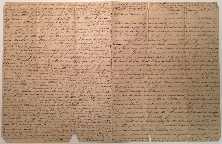Lengthy Autographed Letter Signed about Dentistry and the early use of Chloroform. Cornelius KOLLOCK, 1824 - 1897.