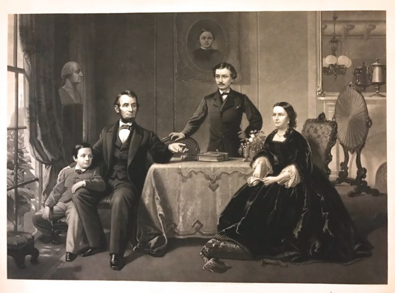 [Lincoln and His Family]. John SARTAIN.