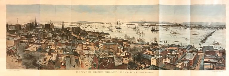 The New York Columbian Celebration - The Naval Review. HARPER'S WEEKLY.