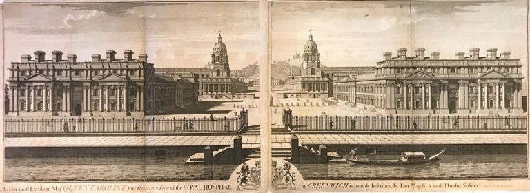 To Her most Excellent Maj.ty Queen Caroline, this Perspective View of the Royal Hospital at Greenwich is humbly inscribed by Her Majesty's most Dutiful Subject Thomas Lawranson. Thomas LAWRANSON.