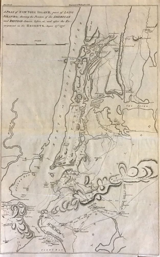 A Plan of New York Island, Part of Long Island &c. Showing the Position of the American and British Armies, before, at, and after the Engagement on the Heights, August 27th, 1776. John MARSHALL.