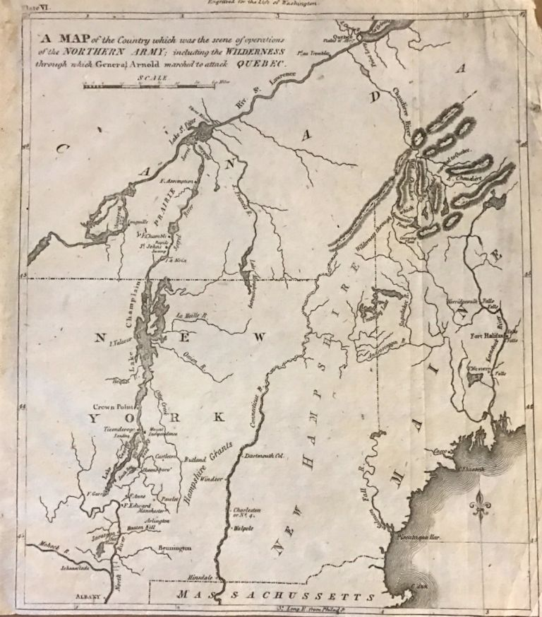 A Map of the Country which was the Scene of Operations of the Northern Army; including Wilderness through which General Arnold marched to attack Quebec. John MARSHALL.
