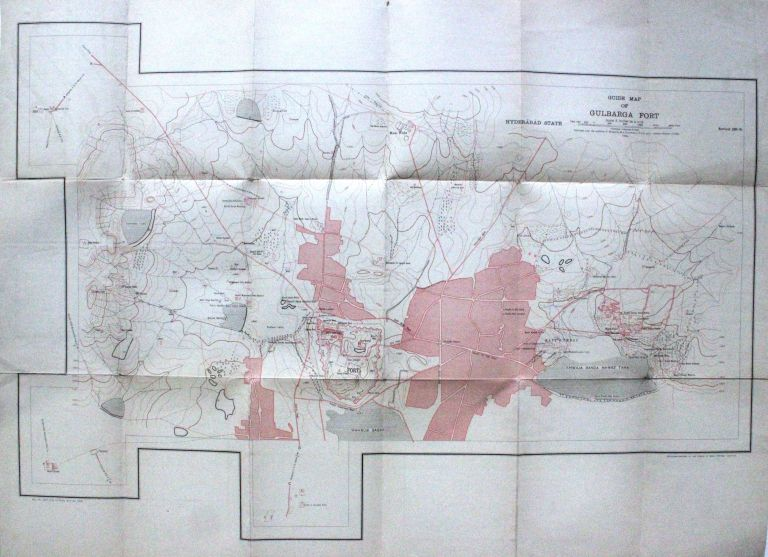 Guide Map of Gulbarga Fort. SURVEY OF INDIA OFFICES.