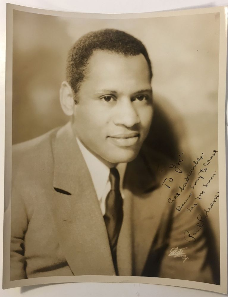 Inscribed photograph to playwright George Kaufman. Paul ROBESON, 1898 - 1976.