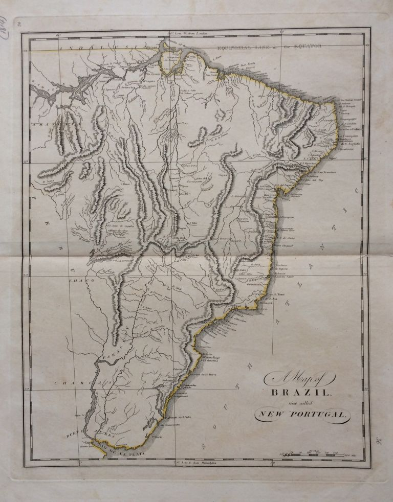 A Map of Brazil now called New Portugal. Mathew CAREY.