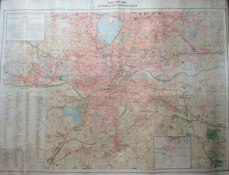 Hyderabad Guide Map and Bus Routes. SURVEY OF INDIA OFFICES.
