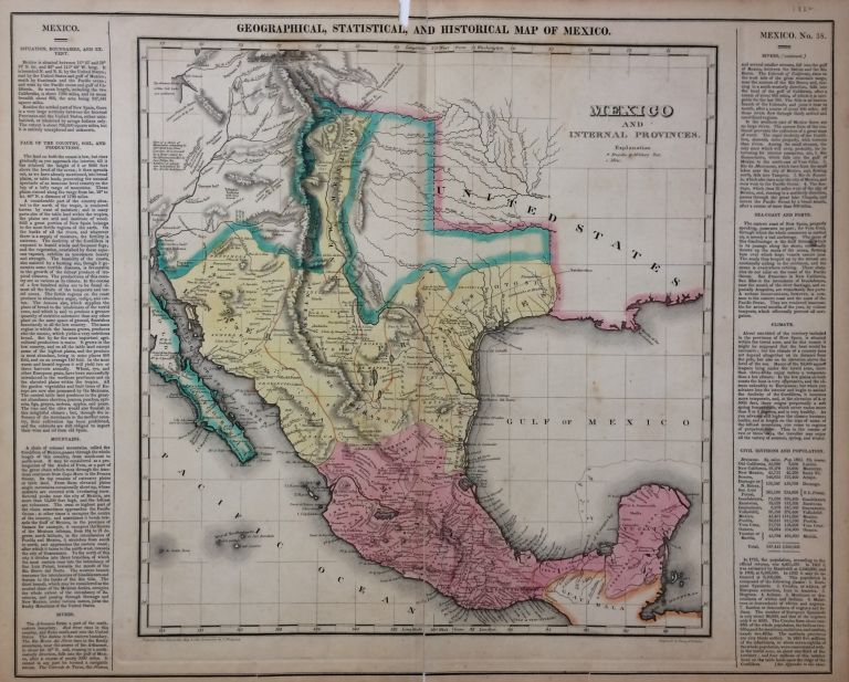 Geographical, Statistical, and Historical Map of Mexico. CAREY, LEA.