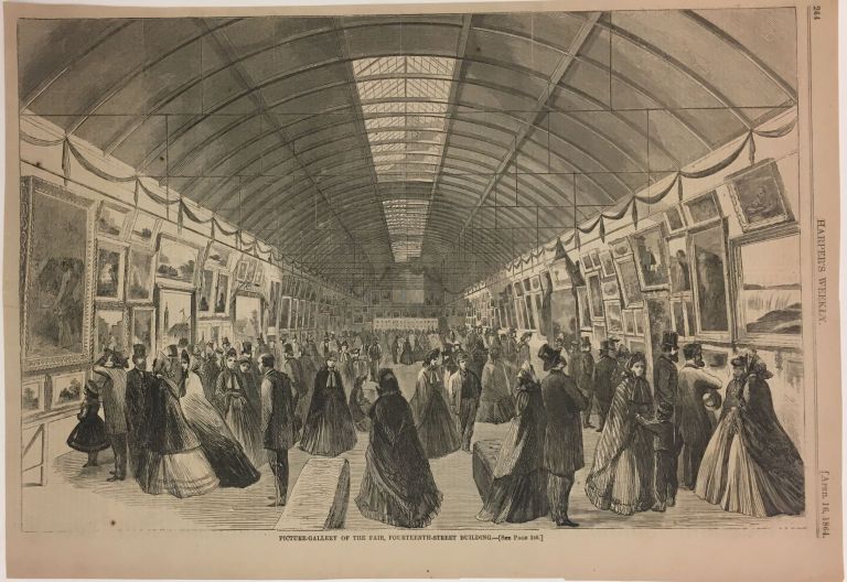 Picture-Gallery of the Fair, Fourteenth-Street Building. HARPER'S WEEKLY.