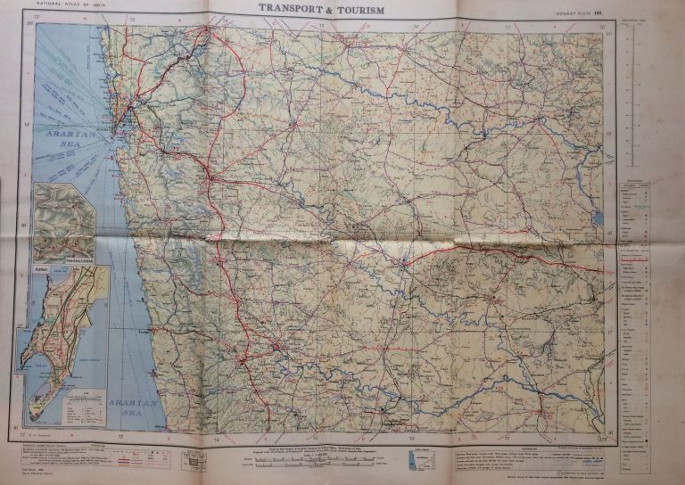Bombay Area Transport and Tourism; National Atlas of India Plate No. 44. S. P. CHATTERJEE.