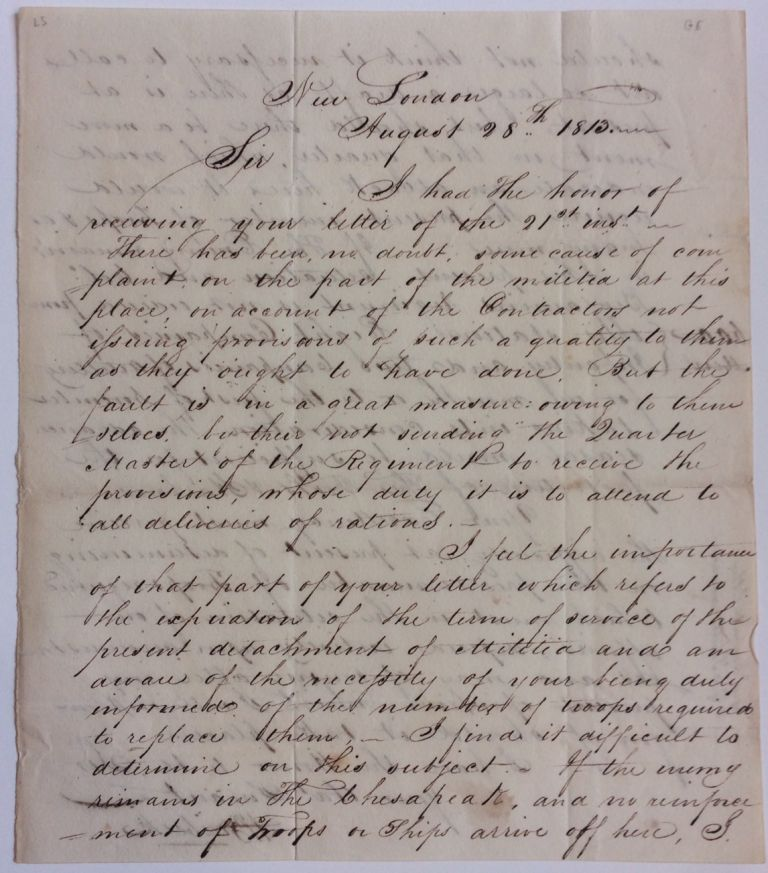Autograph Letter Signed. Henry BURBECK, 1754 - 1848.