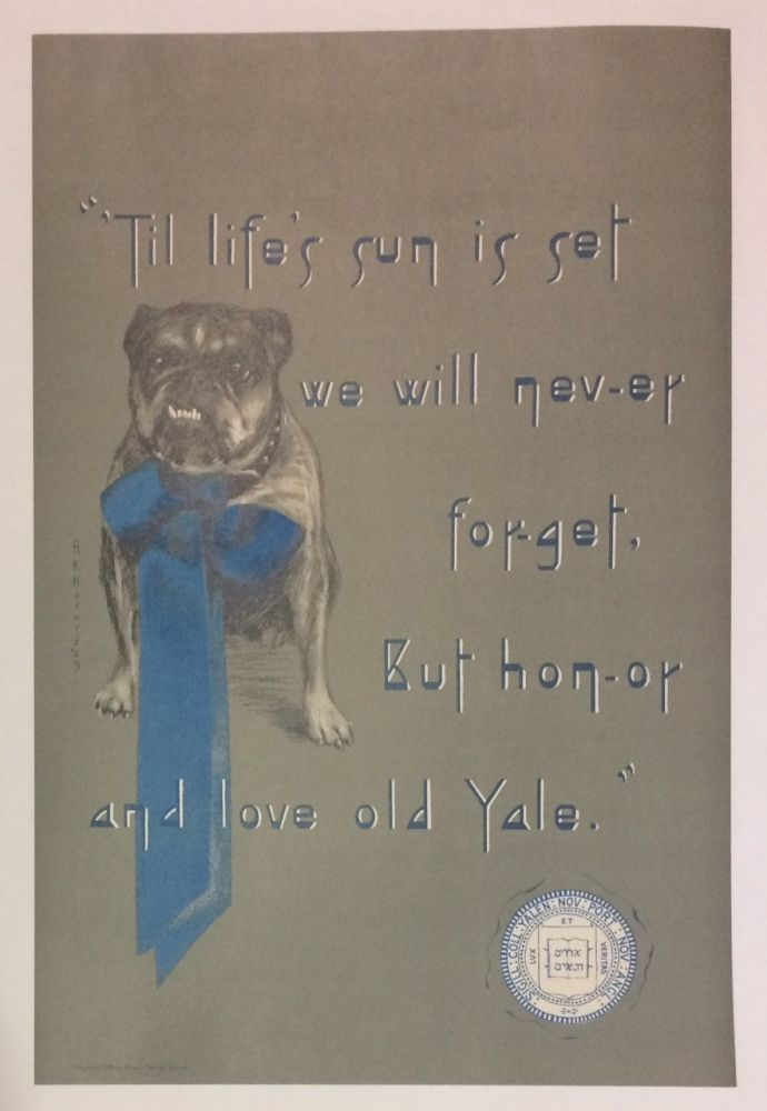 Til Life's Sun is set we will nev-er for-get, But hon-or and love old Yale. Abigail Kellogg HAZARD.
