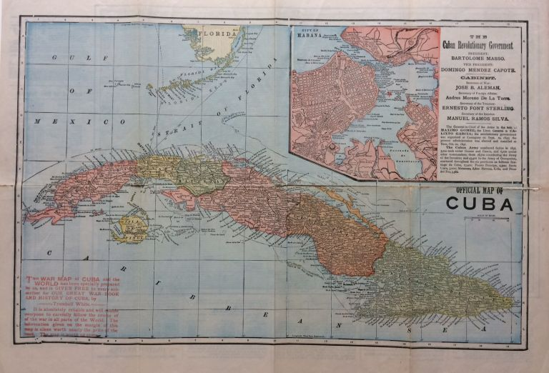 Official Map of Cuba. Henry Houghton BECK.
