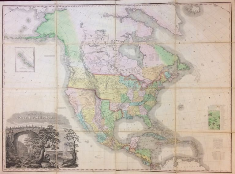 A Map of North America, Constructed To The Latest Information. Henry Schenk TANNER.