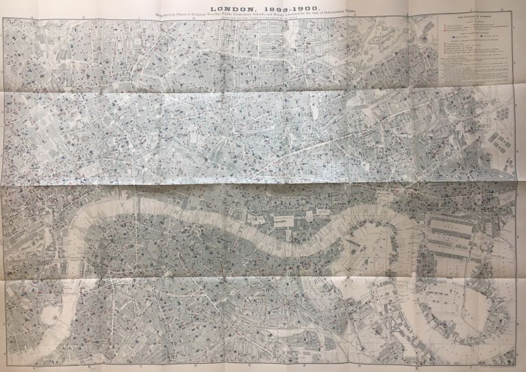 Map Of London 1900.London 1899 1900 Map Showing Places Of Religious Worship Public