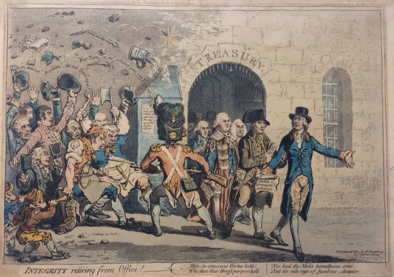 Integrity retiring from Office! James GILLRAY.