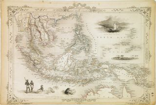 Malay Archipelago, or East India Islands. John TALLIS.