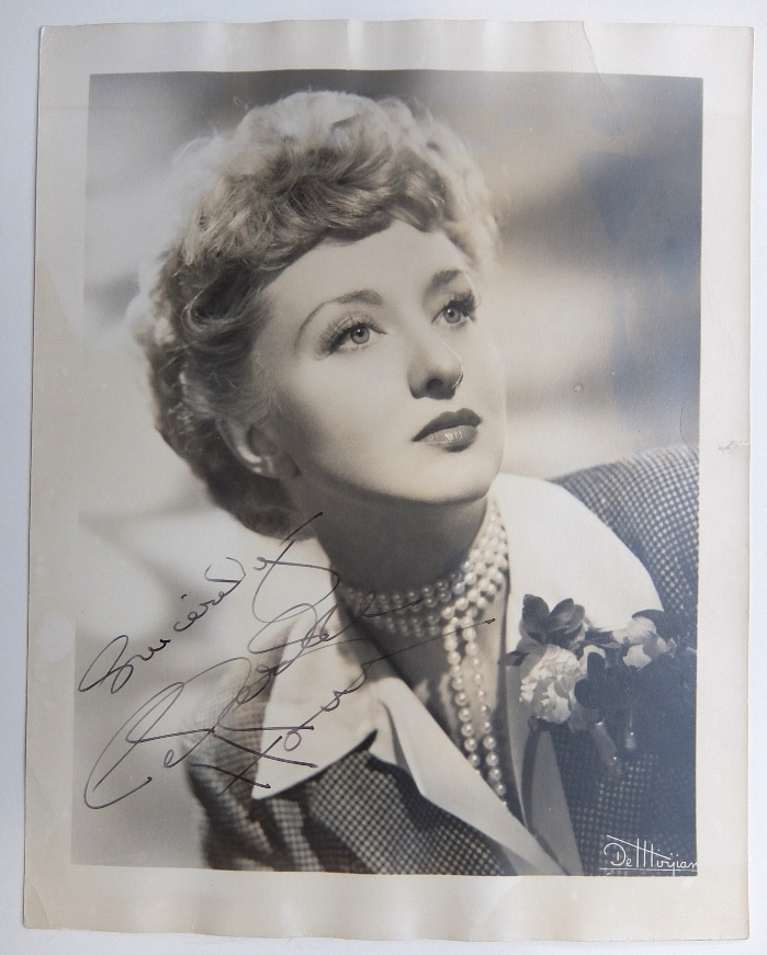 Signed Photograph. Celeste HOLM.