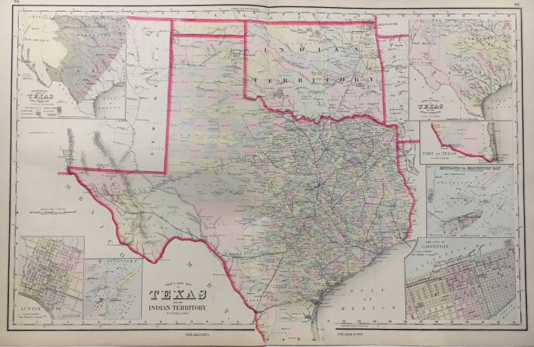 Gray's New Map of Texas. Frank A. GRAY.