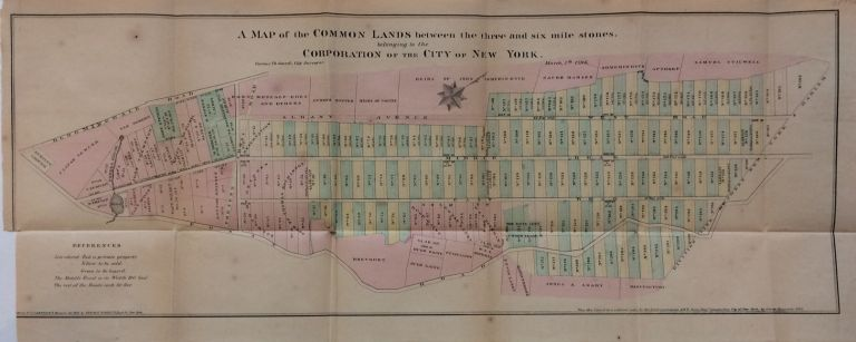A Map of the Common Lands between the three and six mile stones, belonging to the Corporation of the City of New York. D. T. VALENTINE, David Thomas.