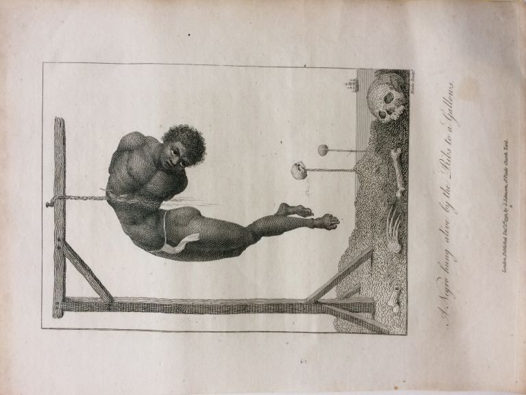 A Negro hung alive by the Ribs to a Gallows. William BLAKE.