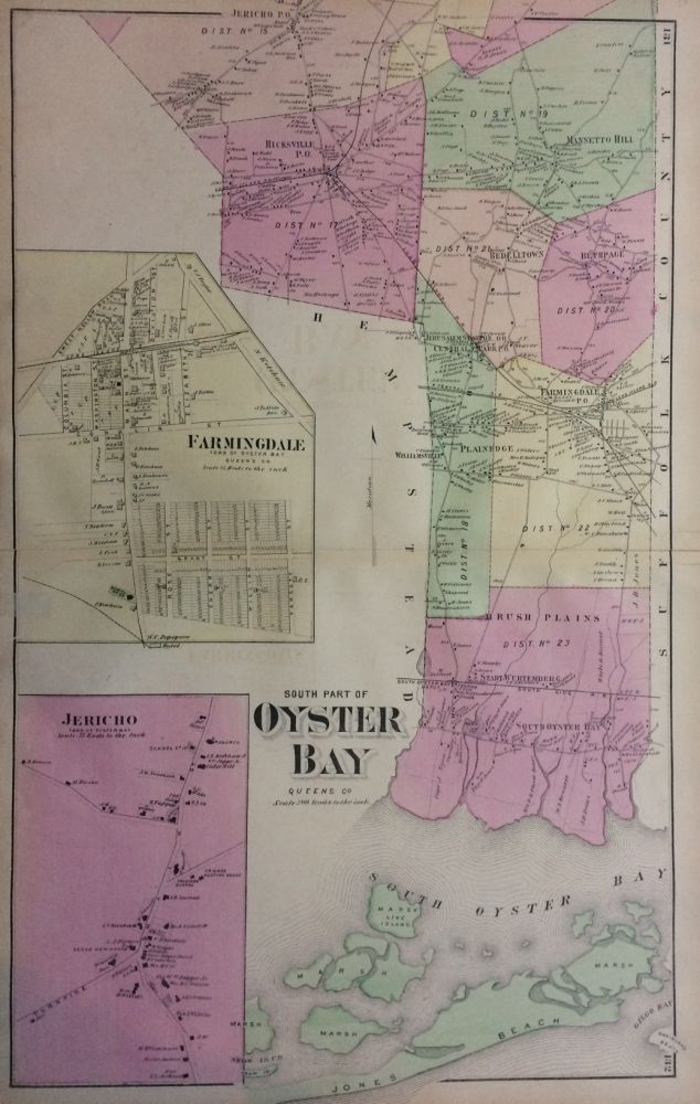South Part of Oyster Bay; Queens Co. Frederick W. BEERS.