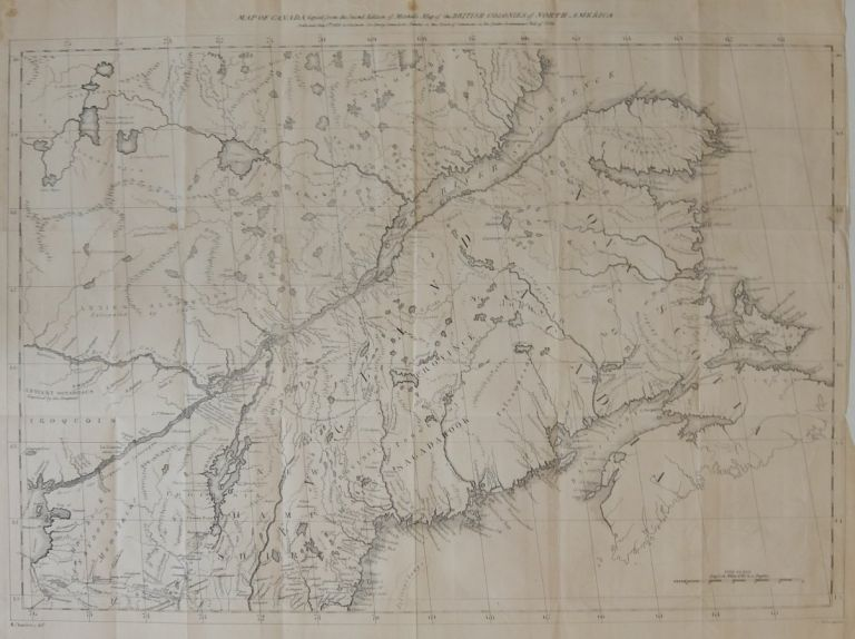 Map of Canada, Copied from the Second Edition of Mitchell's Map of the BRITISH COLONIES of NORTH AMERICA. R. CHAMBERS.
