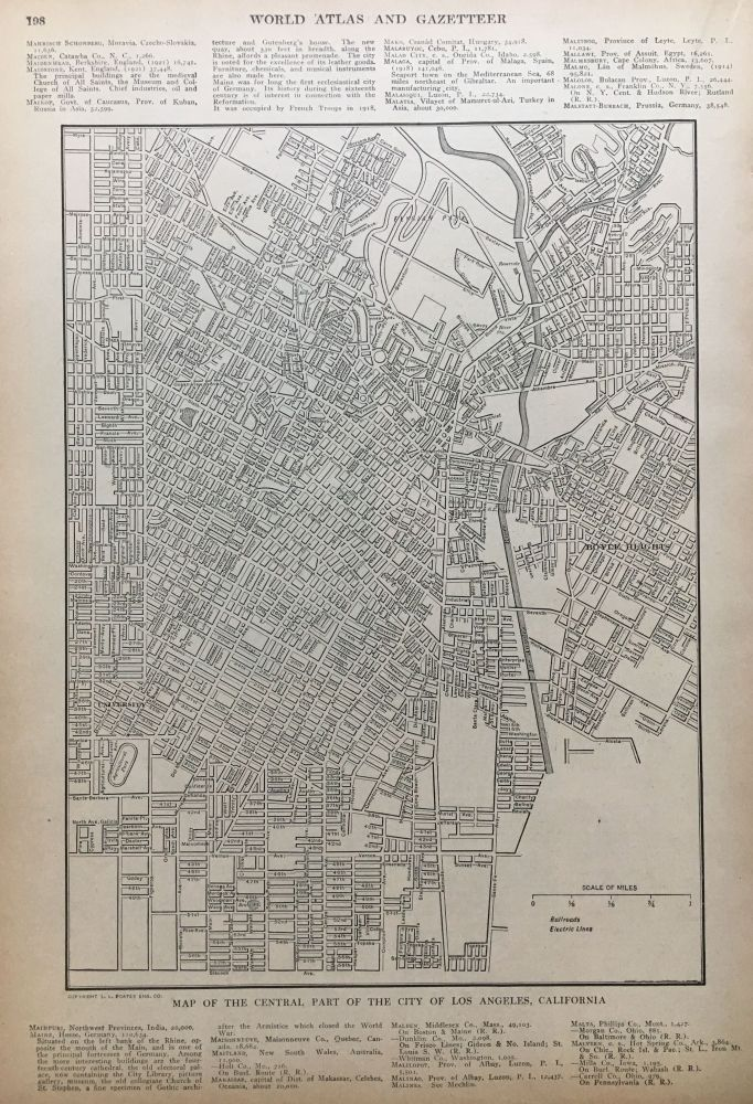 Map of the Central Part of the City of Los Angeles, California. P. F. COLLIER, Adam WARD.