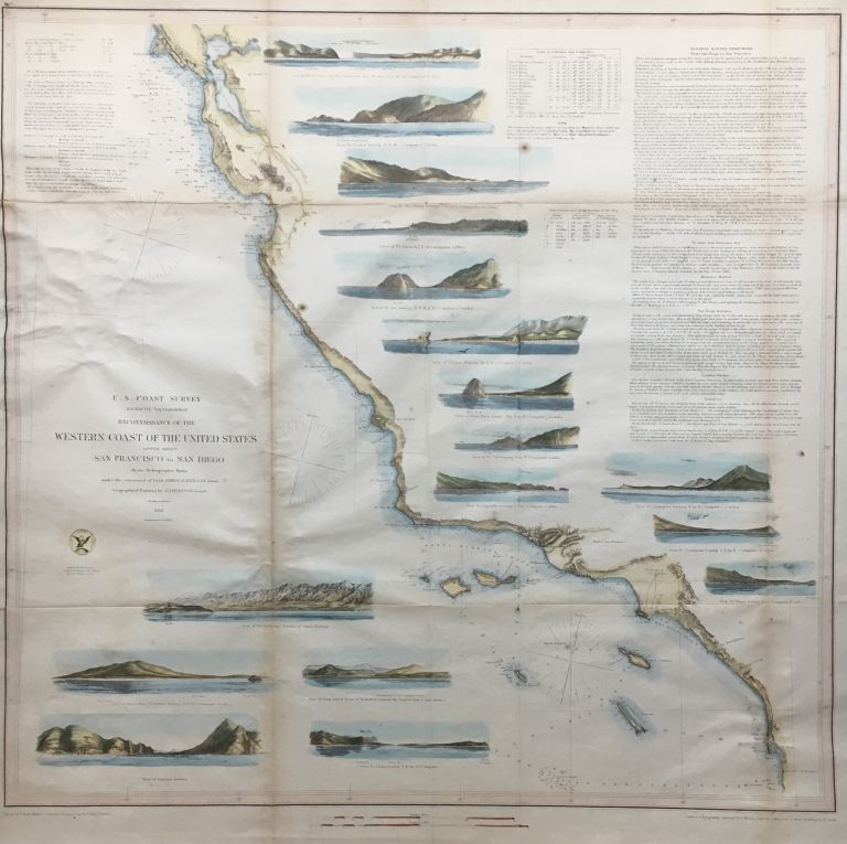 Reconnaissance of the Western Coast of the United States Lower Sheet from San Francisco to San Diego. A. D. BACHE.