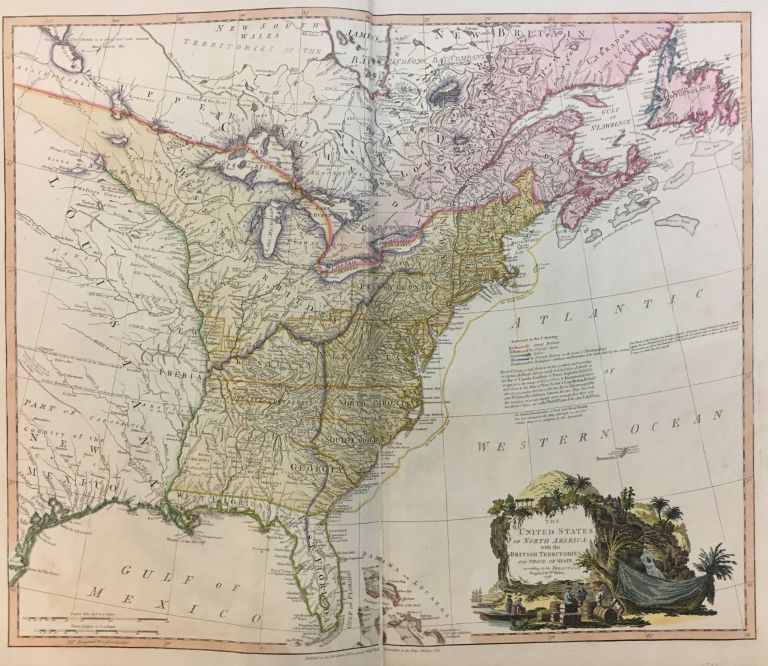 The United States of North America with the British Territories and Those of Spain; according to the Treaty of 1784. William FADEN.