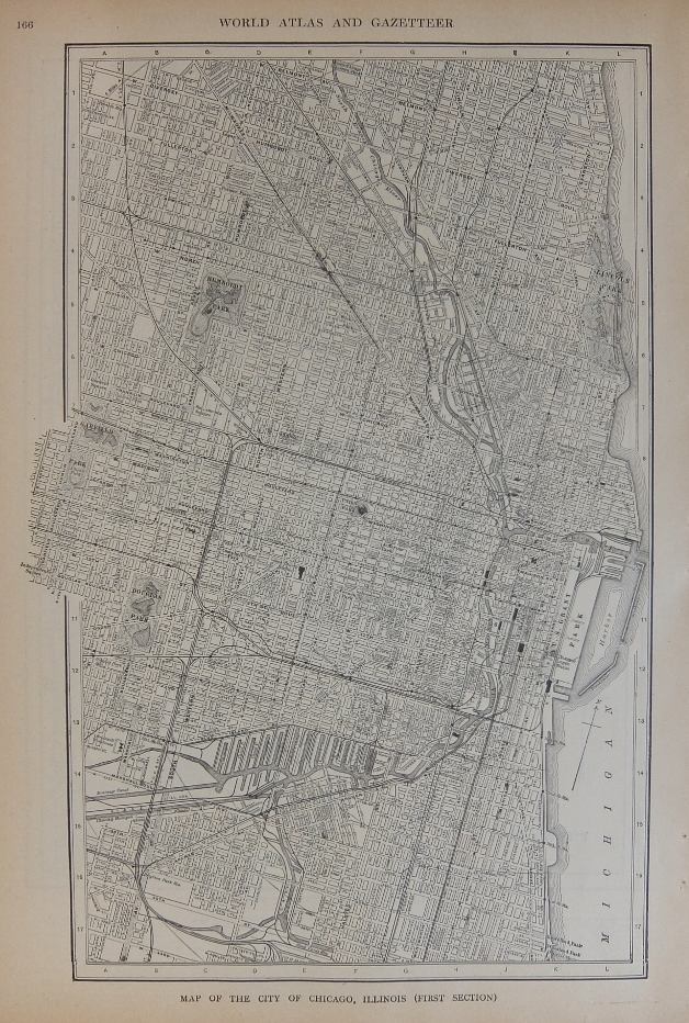 Map of the City of Chicago, Illinois (First Section); with Map of the City of Buffalo, New York. P. F. COLLIER, Adam WARD.