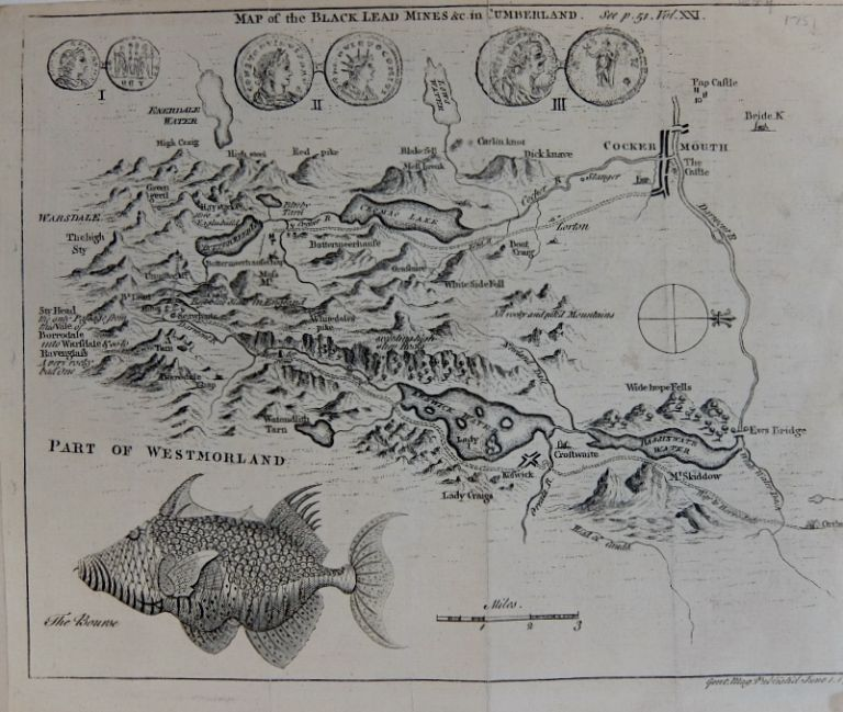 Map of the Black Lead Mines &c. in Cumberland. GENTLEMEN'S MAGAINE.