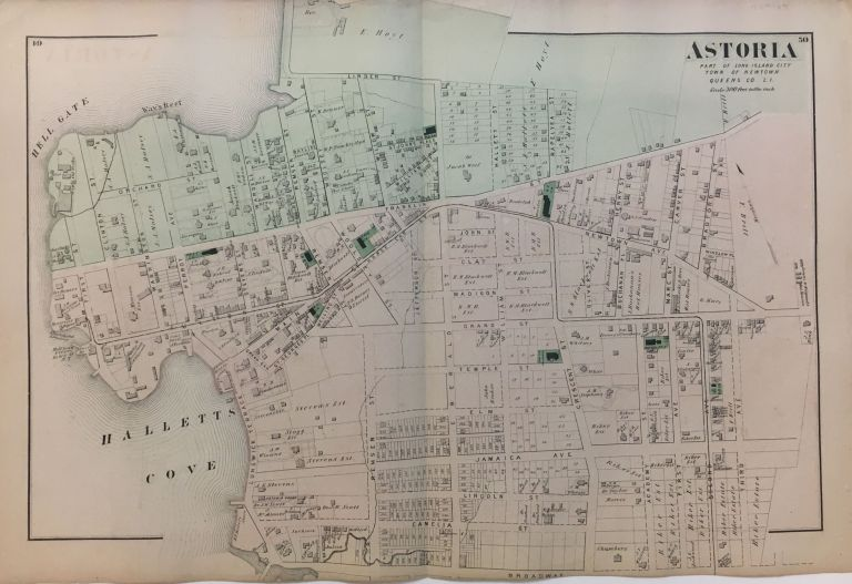 Astoria; Part of Long Island City Town of Newtown Queens Co. L.I. Frederick W. BEERS.