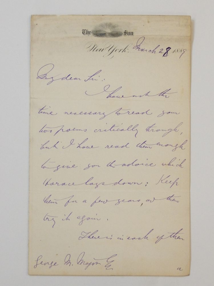 Autograph Letter Signed. Charles A. DANA.