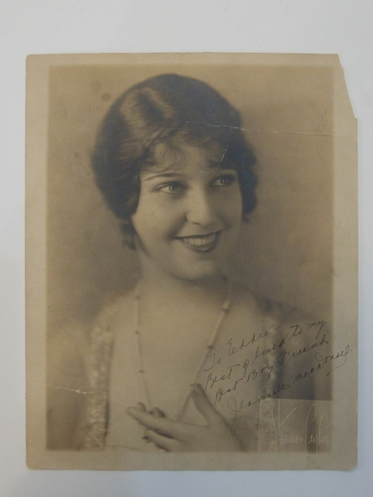 Inscribed Signed Photograph. Jeanette MACDONALD.