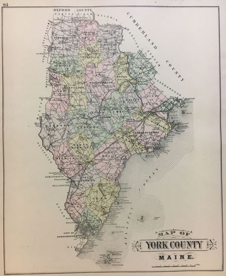 Map of York County. George N. COLBY.