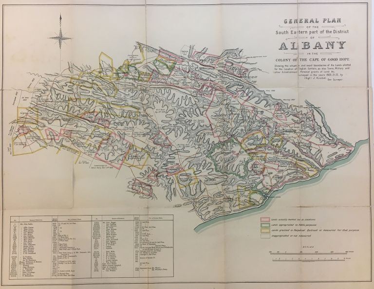 General Plan of the South Eastern part of the District of Albany in the Colony of Good Hope. J. KNOBEL.