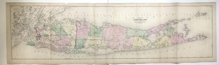 Map of Long Island. Frederick W. BEERS.