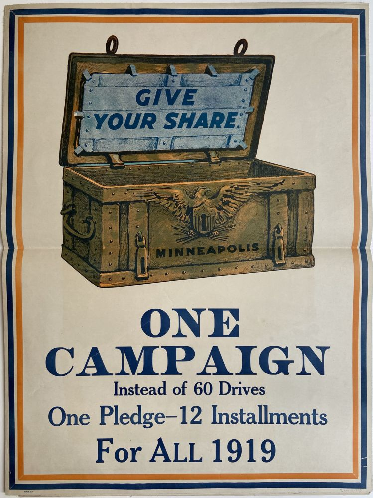 Give Your Share: One Campaign Instead of 60 Drives; One Pledge - 12 Installments For All 1919. Joseph ALMARS.