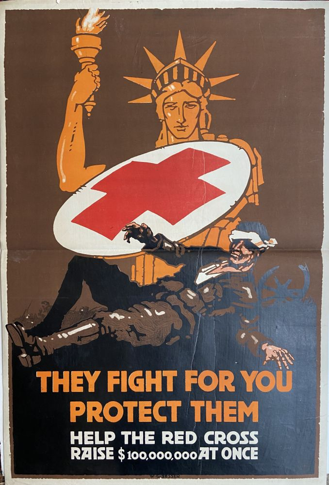 They Fight For You, Protect Them; Help the Red Cross Raise 100,000,000 At Once. W. G. SESSER.