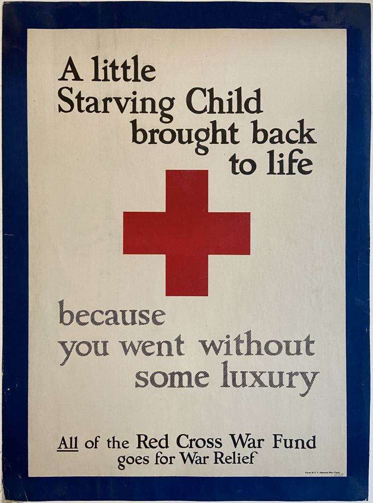 A little starving child brought back to life, because you went without some luxury. Second War Fund.