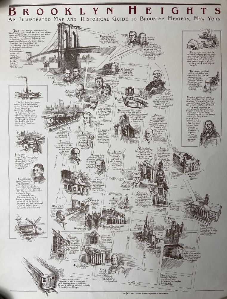 Brooklyn Heights; An Illustrated Map and Historical Guide to Brooklyn Heights, New York. APLIS.