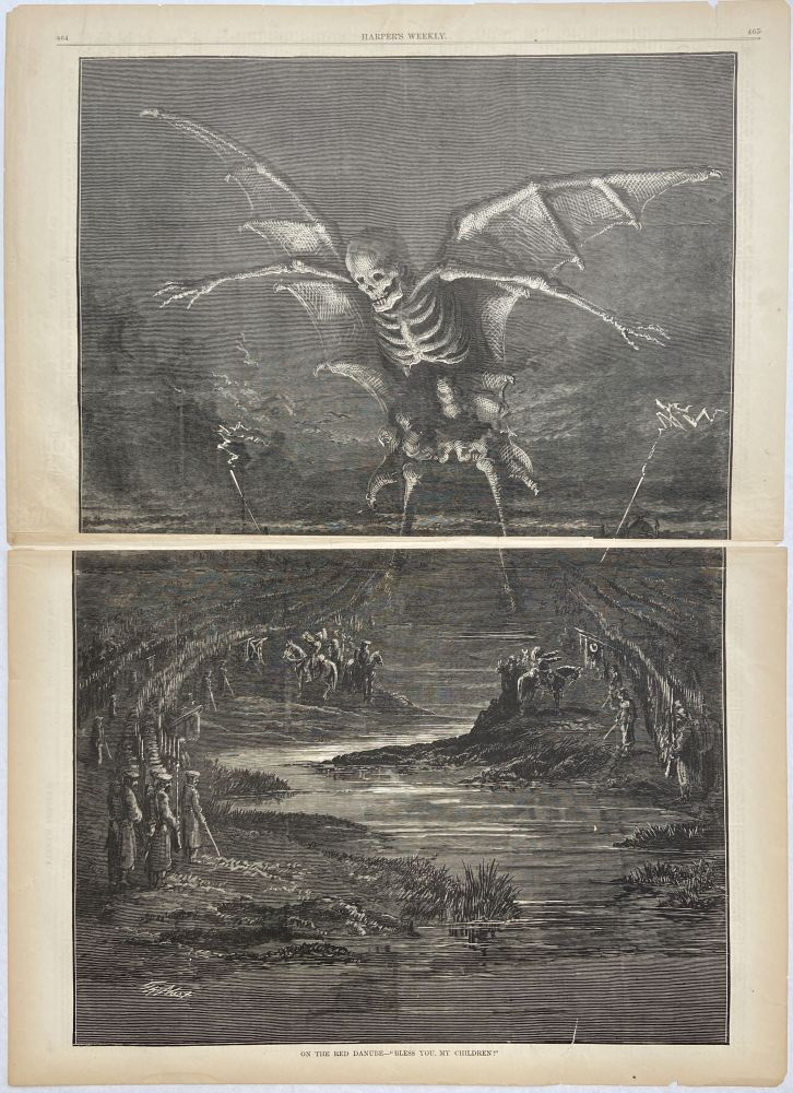 """On the Red Danube-- """"Bless You, My Children"""" Thomas NAST, HARPER'S WEEKLY."""