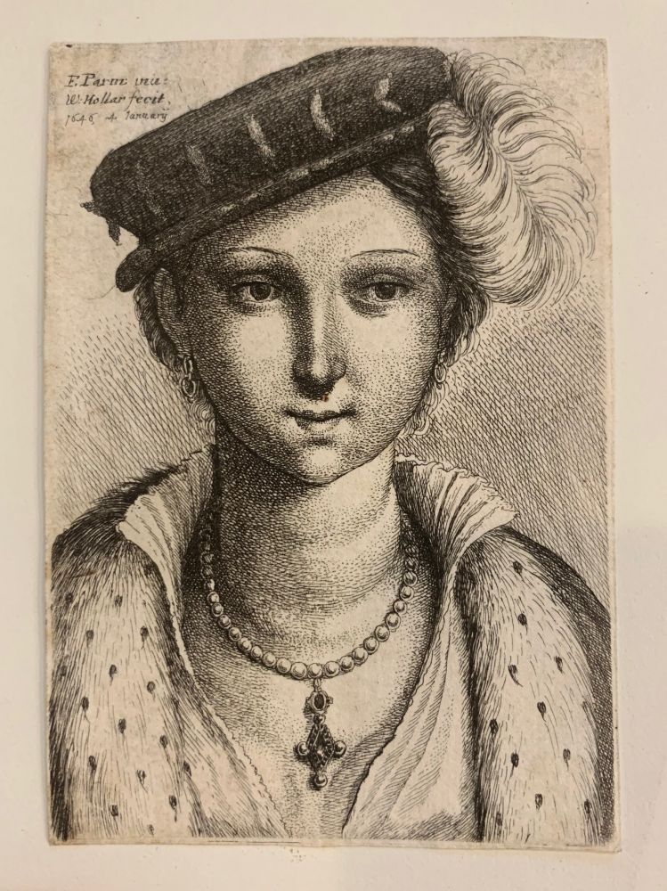 Untitled (Woman with dark plumed hat). Wenceslaus HOLLAR.