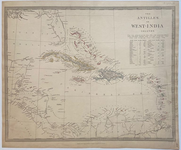 The Antilles or West-India Islands. SDUK, Society for the Diffusion of Useful Knowledge.