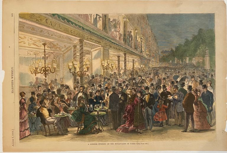 A Summer Evening on the Boulevards of Paris. HARPER'S WEEKLY.