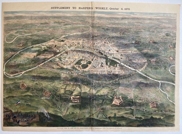 Bird's Eye View of Paris and Its Surroundings, Looking Northward from the Heights of Sceaux. HARPER'S WEEKLY.