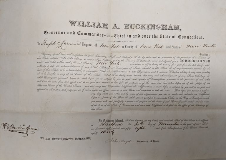 Partly printed D.S. WIlliam Alfred BUCKINGHAM.